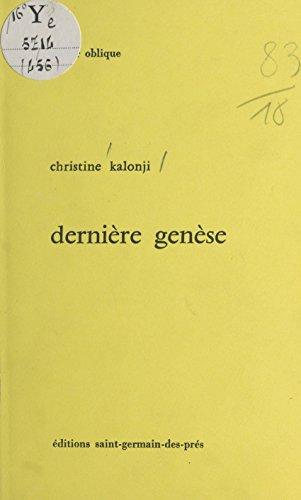 Amazoncom Dernière Genèse Miroir Oblique French Edition