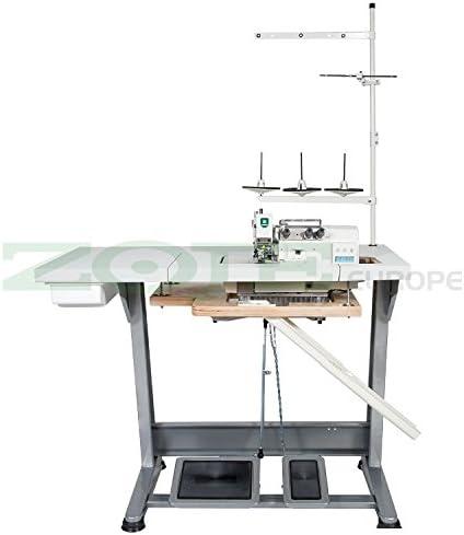 ZOJE de la Industria–Máquina de Coser overlock–1Aguja/3Hilos–Completo (con Mesa y Estructura)