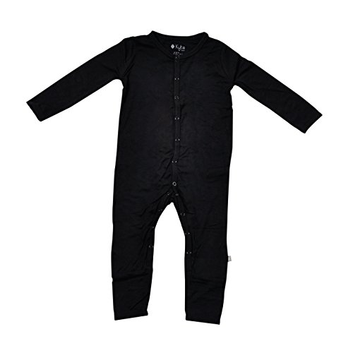 Kyte BABY Rompers - Baby Footless Coveralls Made Soft Organic Bamboo Material - 0-24 Months (0-3 Months, Midnight)