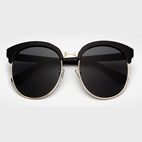 Viaje Las Señoras Gran Gafas De Metal Esencial De Gafas De Marco Gafas Medio Sol Ultra NUBAO De Sol De Negro Sol De De Hombres Sol Gafas Playa Retro De Gafas Espejo qdwzvSnxf