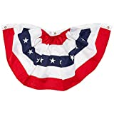 Darice American Bunting Flag, 24 by 48-Inch