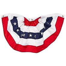"Darice American Flag Bunting 47"", 24"" x 48"", None"