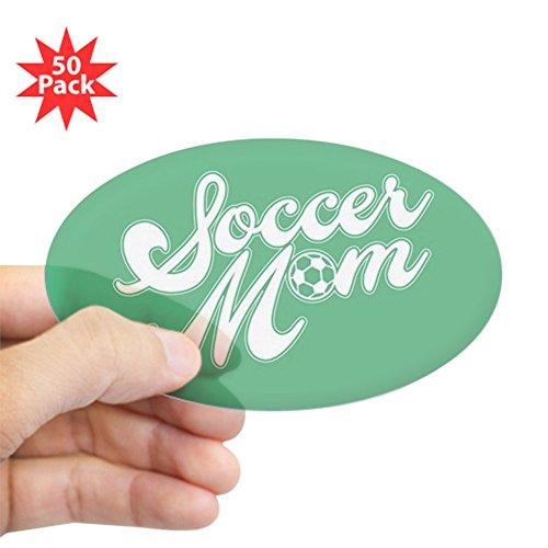 CafePress - Soccer Mom - Sticker (Oval 50 pk) by CafePress