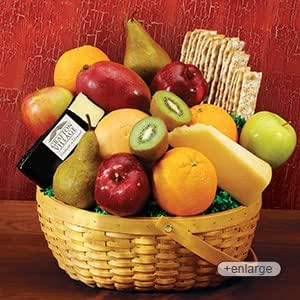 Jumbo Cheese & Fruit Gourmet Gift Basket from Stew Leonard's Gifts
