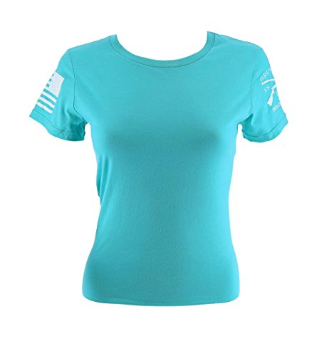 Grunt Style Motorsports S/S Moto Basic Women's T-Shirt, Color Teal, Size Medium by Grunt Style