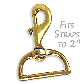 Solid Brass Swivel Snap Hook For Straps Fits 2quot