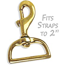 Solid Brass Swivel Snap Hook for Straps fits 2