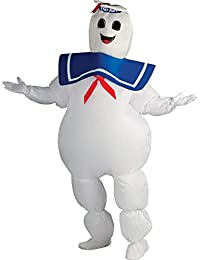 Ghostbusters Inflatable Stay Puft Marshmallow Man Costume, White, Standard