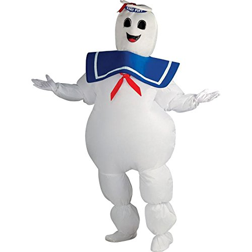 Rubie's Ghostbusters Inflatable Stay Puft Marshmallow Man Costume, White, (Tv Based Halloween Costumes)