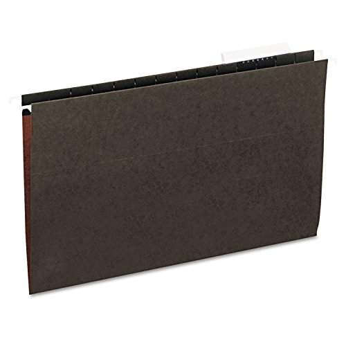 Universal 14213 - Hanging File Folders, 1/3 Tab, 11 Point Stock, Legal, Standard Green, 25/Box-UNV14213