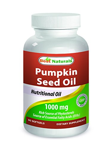 (Best Naturals Pumpkin Seed Oil 1000 mg 90 Softgels)