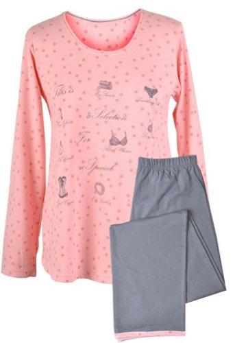 OC 100% algodón para mujer pantalones de pijama de colores de tamaño completo Rosa
