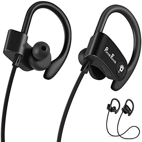 PunnkFunnk Bluetooth Earphones,Wireless in-Ear Earphones Bluetooth 5.0 Sport, IPX4 Waterproof,HiFi Deep Bass Stereo Earbuds,Noise Cancelling Headsets mic for Workout,Running,Gym