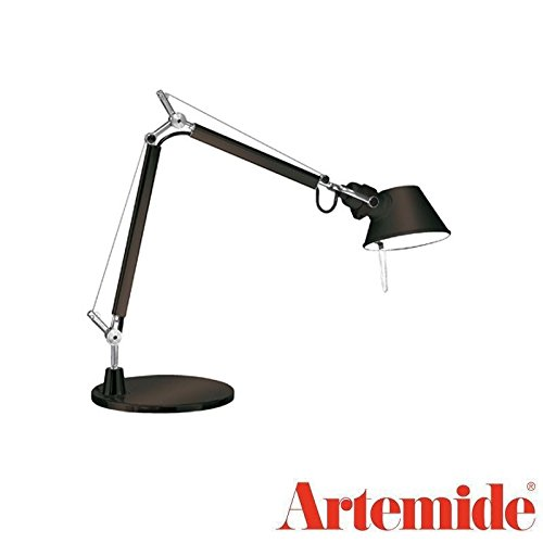(Artemide TOLOMEO Micro Table Lamp Black LED BULB INCLUDED Design Italy 1987)