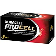 Duracell PC1604BKD Procell Alkaline Batteries, 9V (Pack of 12)
