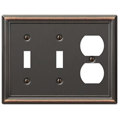 Decorative Wall Switch Outlet Cover Plates (Oil Rubbed Bronze 2 Toggle 1 Duplex)  sc 1 st  Amazon.com & Decorative Wall Switch Outlet Cover Plates (Oil Rubbed Bronze 2 ...