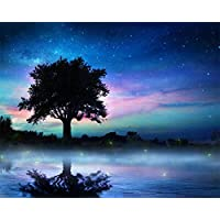 Foggy Dusk Adult's 5d Diamond Painting Kit Children's Diamond for Home Wall Decoration in Bathtub in Bathtub Square…