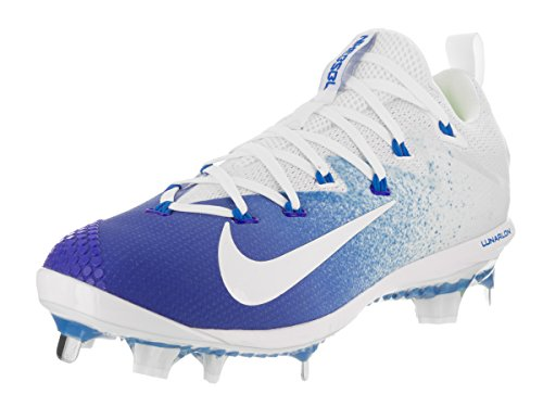 NIKE Men's Lunar Vapor Ultrafly Elite White Synthetic Leather Baseball Cleats 9.5