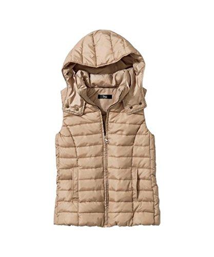 傘矢公園アウター [nissen(ニッセン)] 洗える温度調整中綿ベスト 大きいサイズ レディース