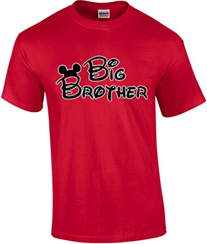 Mickey Dad Minnie Mom Disney FAMILY Vacation BIRTHDAY Matching Tshirts S Youth 7-8 Big Brother-Red