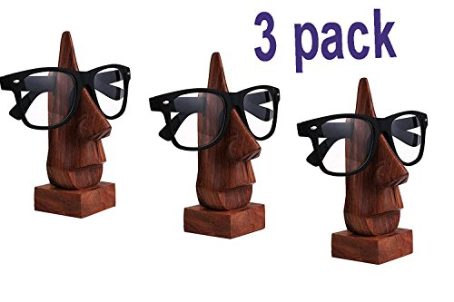 Thanks Giving Gift for your Loved Ones, Wooden Spectacle Holder, Eyewear Holder, Eyeware Retainer Holder, Sunglasses Stand, Goggles Holder, Set of - Sunglasses India Wooden