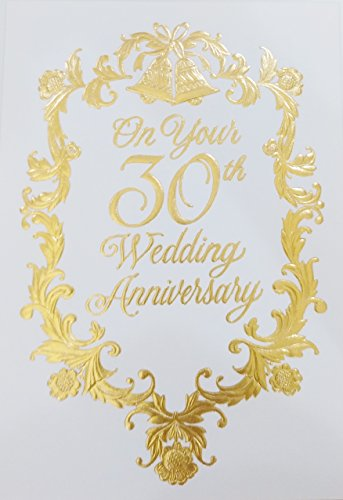 Warmest Wishes on Your 30th Wedding Anniversary Greeting Card - Thirty Years of Marriage for Husband and Wife