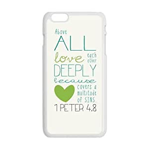 Generic Mobile Cell Phones Cover For Apple iPhone 6 case 4.7 inch Bible Verse Design Plastic phone Cases Protective Shell Personalized Pattern Skin