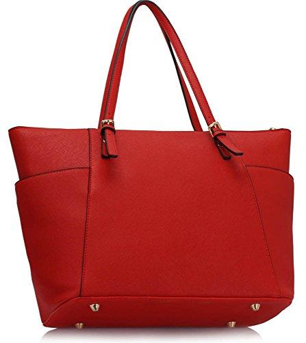 A4 Ladies Shopper Bags Celeb Handbag Ladies LeahWard Fashion Tote Clearance Bag Designer 350 For Red Shoulder Sale Women Style FwgnqdCax