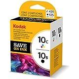 Original Kodak Cartouche d'encre Bundle 3949948 / 10B10C Noir + color pour EasyShare 5100. 5300. 5500. 6150; ESP 3. 3250. 5. 5210. 5220. 5230. 5250. 7. 7250. 9. 9250. Office 6150; Hero 7. 9. Office 6