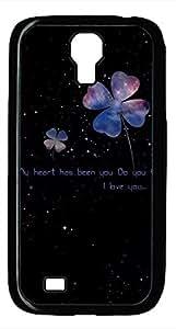 Samsung Galaxy S4 I9500 Black Hard Case - Star Clover Galaxy S4 Cases