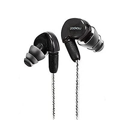 HIFI Earphones,GranVela® X6 Pro In-Ear Headphones Sound Isolating Stage Monitor Earbuds/Sport&GYM/Memory Wire/In-Line Microphone/Detachable Cables for iPhone,iPad and Android Phones and Tablets