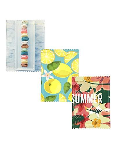 ALLYDREW Compact Fun Novelty Coin Purse Zip Close Coin Pouch Change Purses - Lemon, Macaroon, Summer Fun (set of 3)