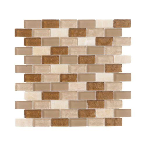 ICJ 99303 12-Inch by 12-Inch Glass Mosaic Wall Tile
