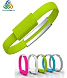 TurboTech Wristband Fashsion Bracelet Micro USB Cable Charging & Data Sync for Samsung and other Android Phones- Colors May Vary.