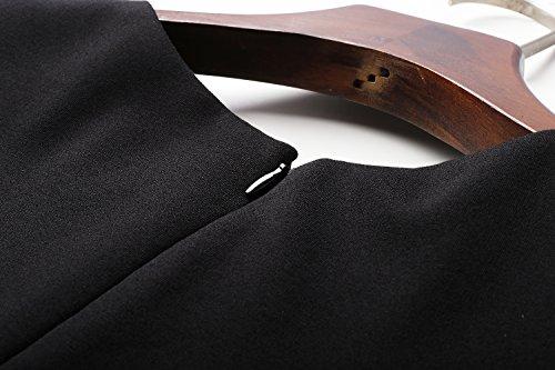 Robes De Femmes D'affaires Cotylédons Col Rond Courte Robe De Soirée Manches