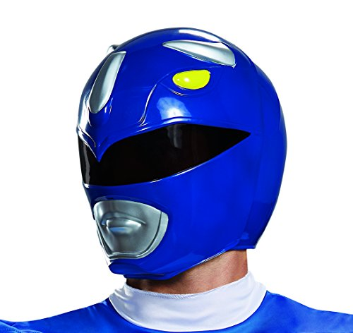 Disguise Men's Blue Ranger Adult Helmet, One Size -