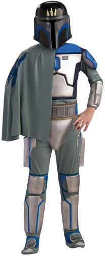 Rubies Star Wars Clone Wars Child's Deluxe Pre Vizsla Costume and Mask, Large -