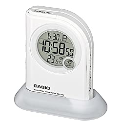 Casio High-Brightness LED light ( flashlight function) temperature display with radio digital clock DQD-410J-7JF