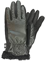 Isotoner Smart Touch Womens Black Micro-Check Tech & Text Gloves Smartouch