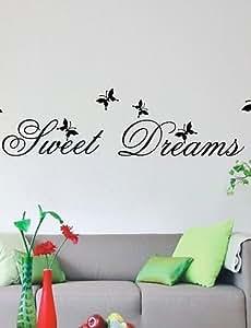 Reino Unido citas de decoración de la sala de estar dulce sueño etiquetas de la pared DIY Zooyoo2002 pegatinas de pared decoración para el hogar Pvc extraíble