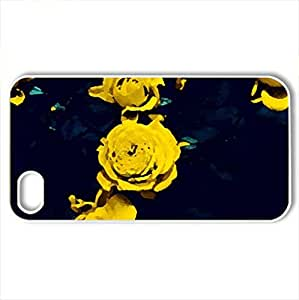 roses - Case Cover for iPhone 4 and 4s (Flowers Series, Watercolor style, White) by icecream design