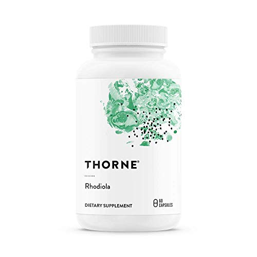 (Thorne Research - Rhodiola - Botanical Supplement for Stress Relief - Enhances Mood, Sleep, and Mental Focus - 60 Capsules)