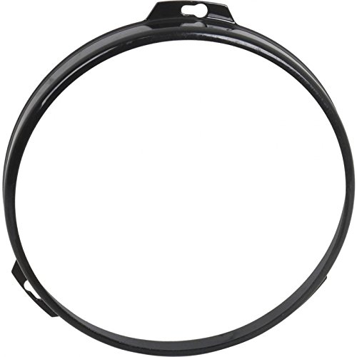 MACs Auto Parts 32-372455 Steel 7'' Sealed Beam Retainer Ring, Black