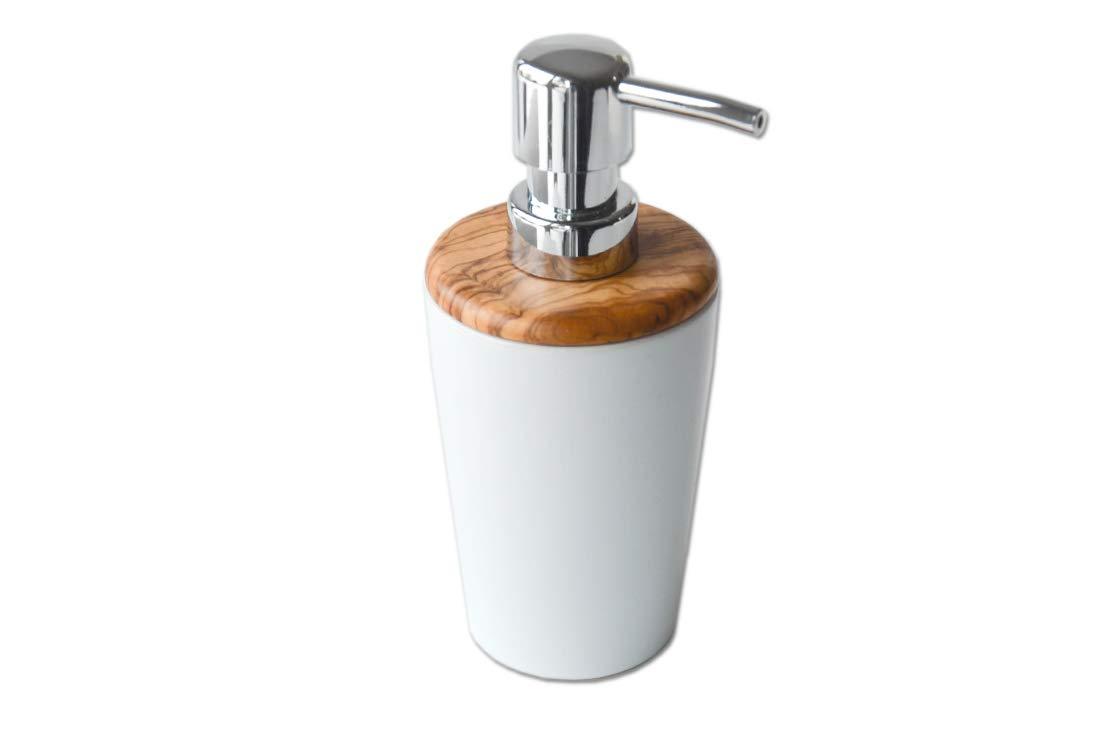 D.O.M./ /Dispenser per sapone con coperchio in legno d ulivo