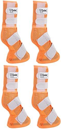 Cashel Crusader Horse Fly Protection Leg Guards Set of Four Sizes (Horse, Orange) - Fly Cashel Pink Mask