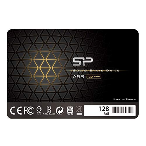 Silicon Power 128GB-SSD 3D NAND A58 SLC Cache Performance Boost SATA III 2.5