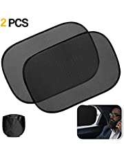 Zone Tech Car Window Cling On Sun Shades- 2 Pack Premium Quality Mesh Car Pop-Up Non Suction Cups Needed Sunshade - Protects Kids, Baby and Pets from Sun,Glare and UV Rays-Perfect for Car, Van, SUV