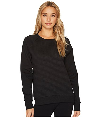 Reebok Sweatshirts Crewneck - Reebok Women's Quilted Crewneck Sweatshirt, Black, Small