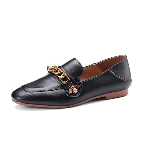Plana Bajos De zapatos Superficial Boca De Mujer De Bajos GAOLIM Negro 7d22be