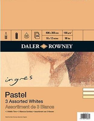 "Ingres Pastel Paper Spiral Pad 3 Assorted Whites DALER-ROWNEY - 16x12"" [Toy]"